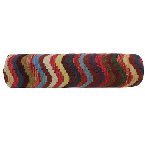 Lawrence Beige/Rust Hand-Woven Kilim Pillow