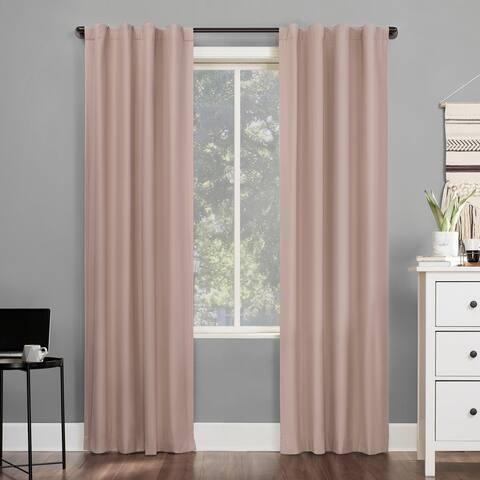 Sun Zero Cyrus Thermal 100% Total Blackout Back Tab Curtain Panel