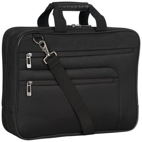 Heritage Travelware 1680D Dobby Poly Double Gusset 17 Computer Portfolio