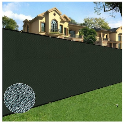 Orion 6' x 100' Privacy Screen Fence, Black