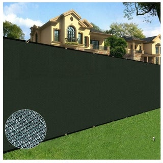 Orion 8' x 50' Privacy Screen Fence, Black