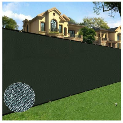Orion 6' x 50' Privacy Screen Fence, Black
