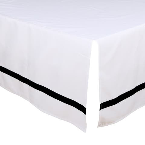 The Peanut Shell Tailored Crib Dust Ruffle in Black/White
