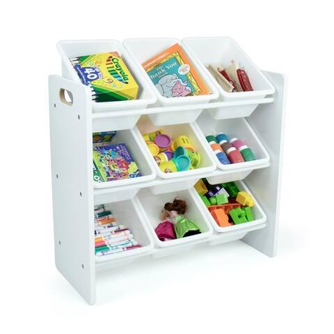 Humble Crew Cambridge White Toy Storage Organizer with 9 Storage Bins
