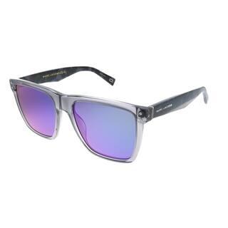 Marc Jacobs Marc 119 26U Unisex Transparent Grey Frame Green Mirror Lens Sunglasses