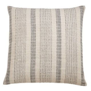 Striped Woven Throw Pillow