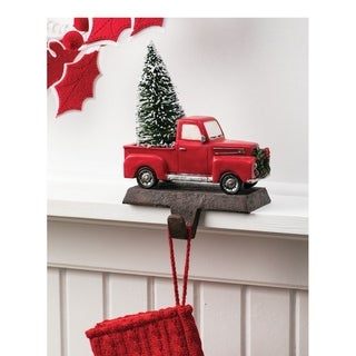 """Link to Truck with Tree Stocking Holder - 5.5""""L x 4""""W x 7.75""""H Similar Items in Christmas Decorations"""