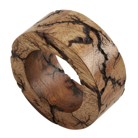 Mango Wood Napkin Rings (Set of 4)
