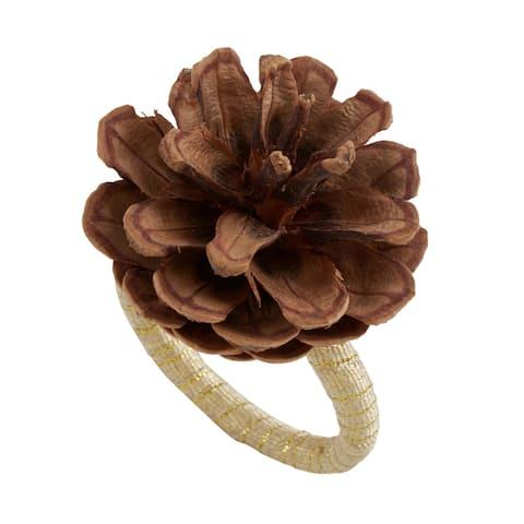 Pinecone Design Napkin Rings (Set of 4)