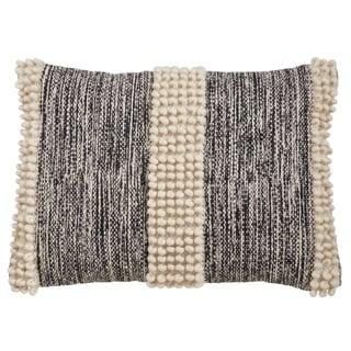 Throw Pillow With Pom Pom Stripe Design