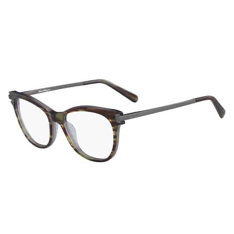 Ferragamo Rx SF2763 Striped Grey-Brown-Green Women Eyeglasses