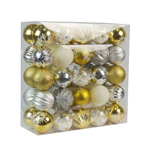 50 Pk Christmas Ornament Tinsel Town Dec Orn Set