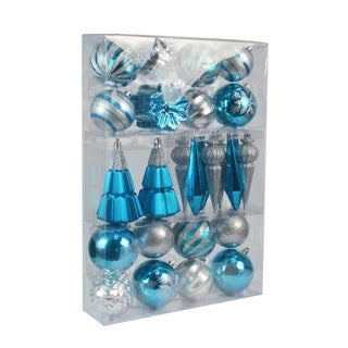 Link to 27Pk Christmas Ornament-Blue And Silver - N/A Similar Items in Christmas Decorations