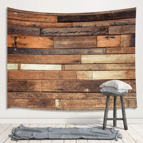 """Wooden Board Wall Tapestry 71"""" x 60"""""""