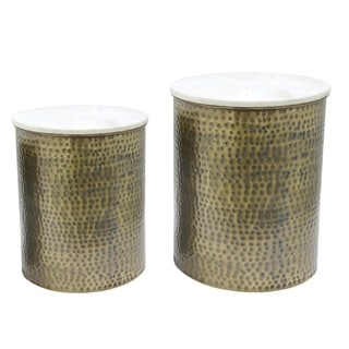Link to Kent Marble Side Table Set of 2 Similar Items in Living Room Furniture