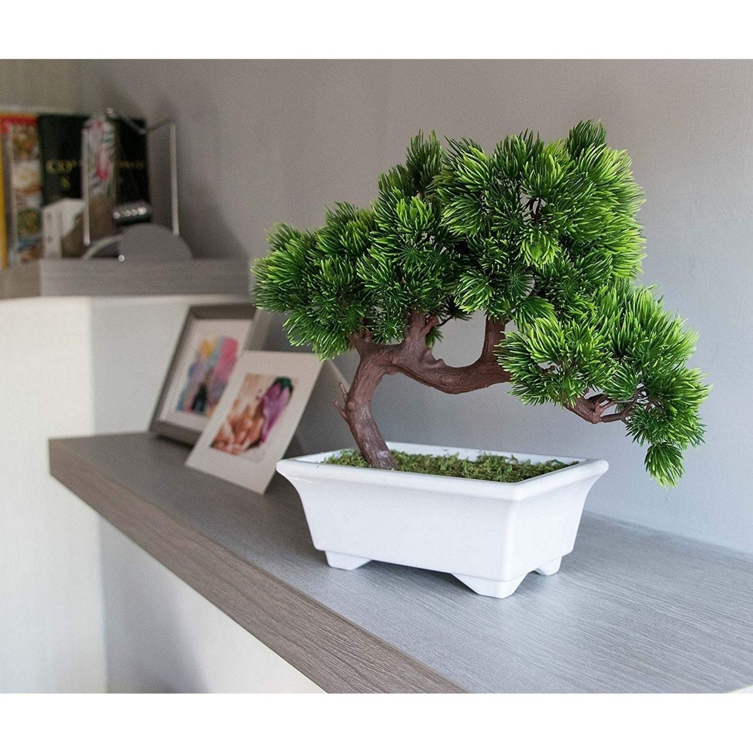 Artificial Bonsai Tree Fake Plant Decoration Potted Artificial House Plants Overstock 29743690