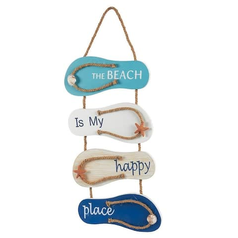 Flip Flop Wall Ornament Slippers Hanging Decoration with Beach Design Home Décor