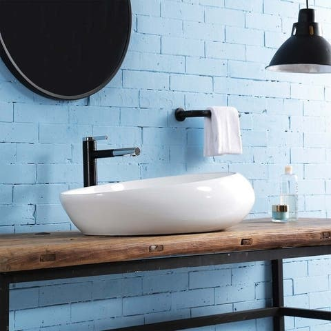 Iris Vitreous China Oval Vessel Bathroom Sink