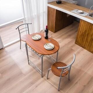 Link to Porch & Den Matomandy Metal Frame 3-piece Bistro Set with Shelf Storage Similar Items in Dining Room & Bar Furniture