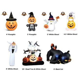 Link to Halloween Decoration Lighted Inflatable Pumpkin White Ghost Black Cat Similar Items in Outdoor Halloween Decorations