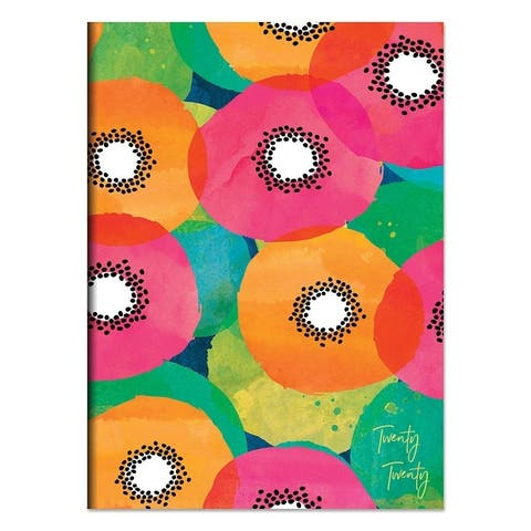 2020 Floral Poppy Print Medium Monthly Slim Planner