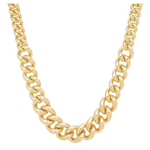 "Forever Last 18 k Gold Overlay 18"" Lge. Graduated Link Necklace"