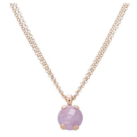 Forever Last 18 k Gold Overlay Drop Pendant Violet Necklace