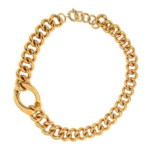 Forever Last 18 k Gold Overlay Large Link W/ One Super Link Necklace