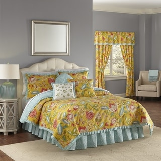 Waverly Modern Poetic Sunshine Cotton Quilt Set- Twin