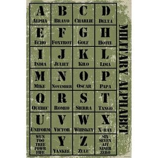 Military Alphabet Poster Print