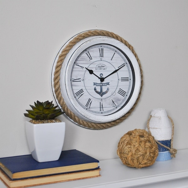 """FirsTime & Co.® Dock Rope Wall Clock - 10"""""""