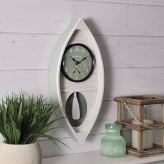 "FirsTime & Co.® Ocean Canoe Wall Clock - 18""H x 7.75""W"