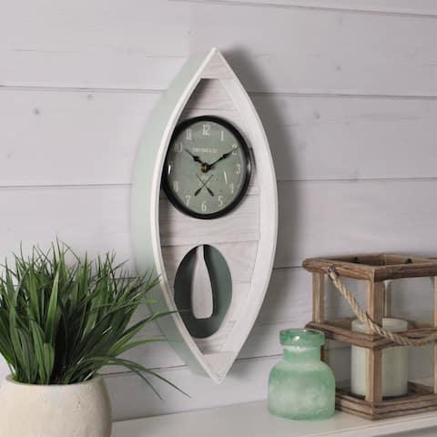 "FirsTime & Co.® Ocean Canoe Wall Clock - 18""H x 7.75""W"