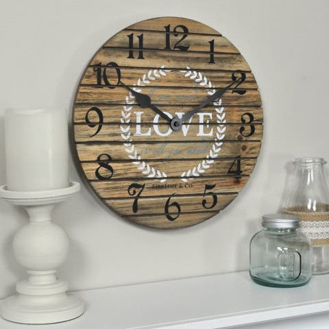 FirsTime & Co.® Love Pallets Wall Clock - 12""