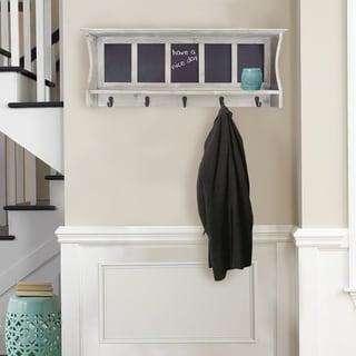 "Adrein Lewis-Wooden Wall Rack with Chalkboard - 31x12.5x4"""
