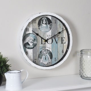 FirsTime & Co.® Rustic Expressions Frame Wall Clock - 10""