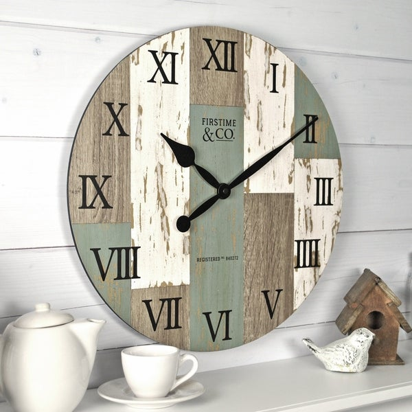 FirsTime & Co.® Coastal Cottage Wall Clock - 15.5""