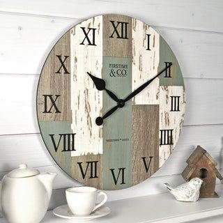"FirsTime & Co.® Coastal Cottage Wall Clock - 15.5"""
