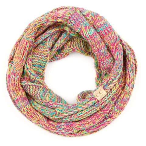 CC Kids Multicolored Lined Infinity Scarf