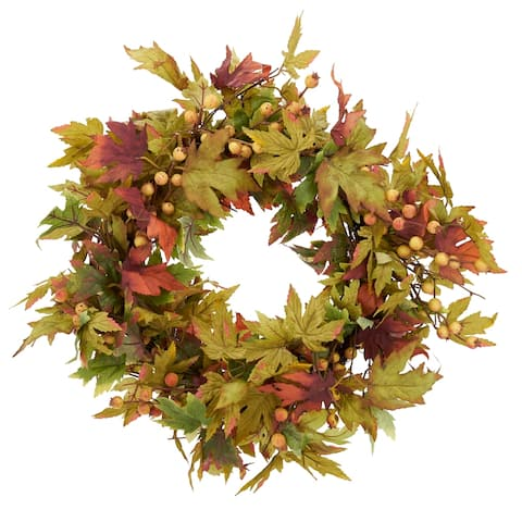 Fall Wreath with Leaf Design