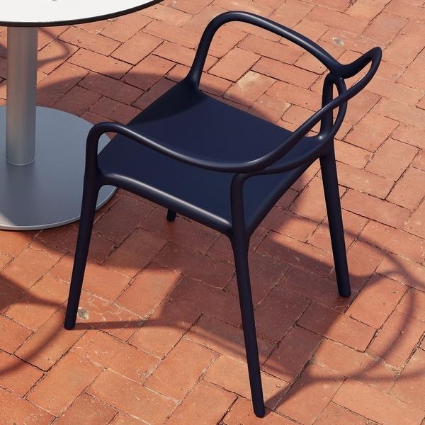 Porch & Den Norgart Curved Silhouette Indoor/Outdoor Chair
