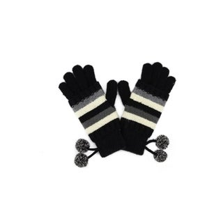 GLOUE Womens Touch Screen Warm Winter Cashmere Gloves Fleece Lined Pom Poms