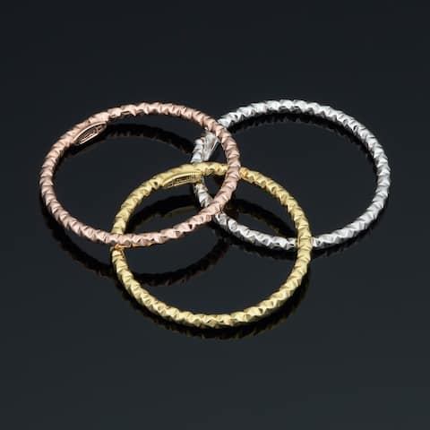 14k Yellow White or Rose Gold 1.5 millimeter Diamond-cut Stackable Ring