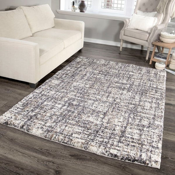 "Palmetto Living Jennifer Adams Cotton Tail Cross Thatch Taupe Area Rug - 5'3"" x 7'6"""