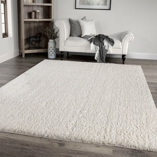 """Palmetto Living Cotton Tail Buttery-Soft Solid White Area Rug - 6'7"""" x 9'6"""""""