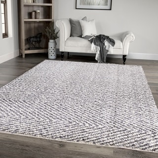 "Palmetto Living Jennifer Adams Cotton Tail Harrington Grey Area Rug - 7'10"" x 10'10"""