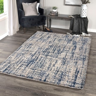 "Palmetto Living Jennifer Adams Cotton Tail Cross Thatch Grey Area Rug - 6'7"" x 9'6"""