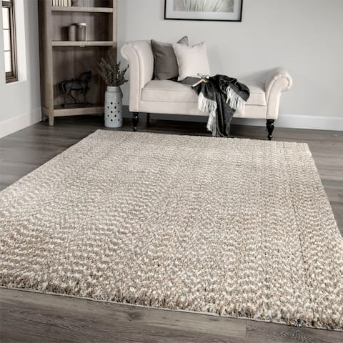 """Palmetto Living Cotton Tail Buttery-Soft Solid Beige Area Rug - 7'10"""" x 10'10"""""""