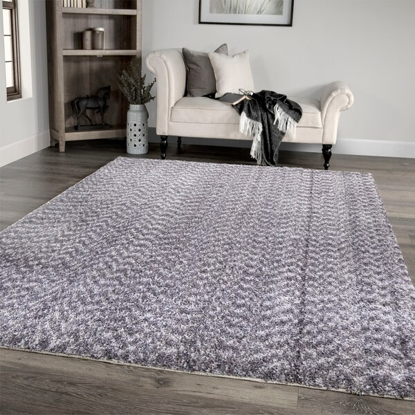 """Palmetto Living Cotton Tail Buttery-Soft Solid Grey Area Rug - 5'3"""" x 7'6"""""""