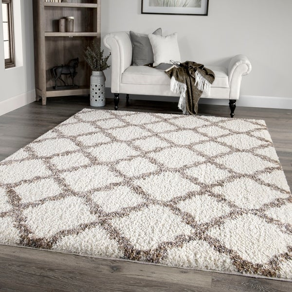 """Palmetto Living Cotton Tail Buttery-Soft Belmar White Area Rug - 7'10"""" x 10'10"""""""